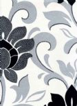 Reflections Divine Silver Wallpaper 1912/909 By Prestigious Textiles